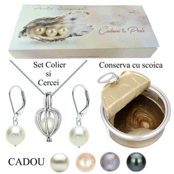 Bratara Perle Naturale Albe Premium 7-8 mm cu Inchizatoare Ovala de Aur Galben 14k
