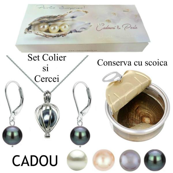 Bratara Perle Naturale Albe Premium 7-8 mm cu Inchizatoare Ovala de Aur Alb 14k