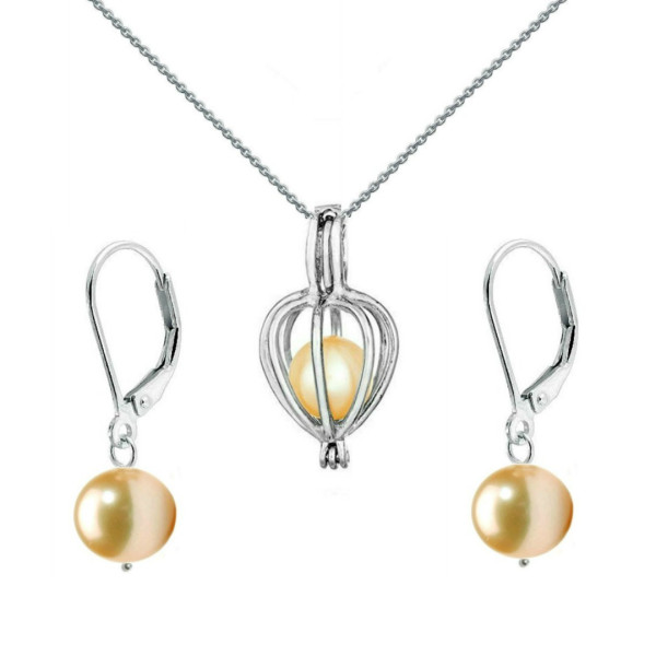 Bratara Perle Naturale Albe Premium de 8-9 mm cu Inchizatoare Sferica de Aur Alb