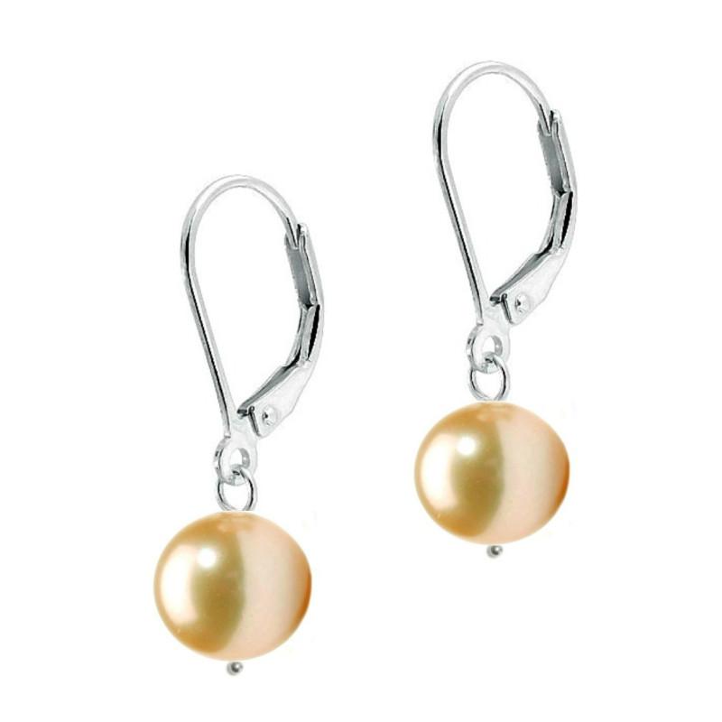 Bratara Perle Naturale Albe Premium de 7-8 mm cu Inchizatoare Sferica de Aur Alb