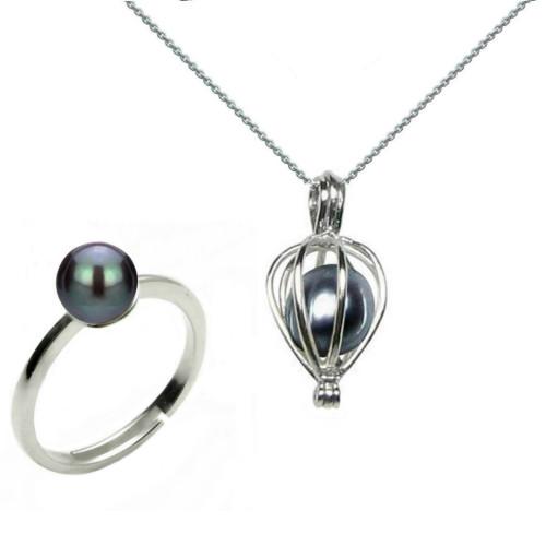 Bratara Tripla Aur Alb si Perle Naturale Albe Premium de 7-8 mm