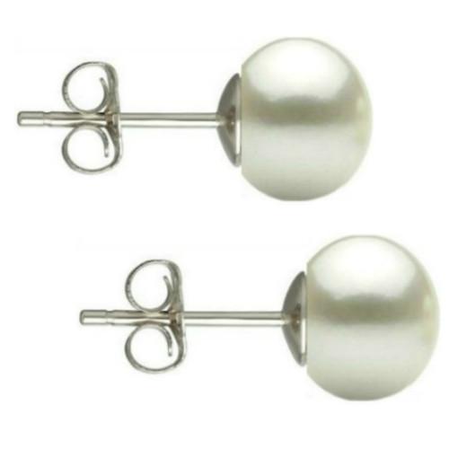 Cercei Argint Clips cu Perle Naturale Teardrops Crem