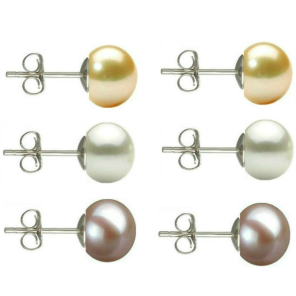 Cercei Argint Clips cu Perle Naturale Teardrops Lavanda