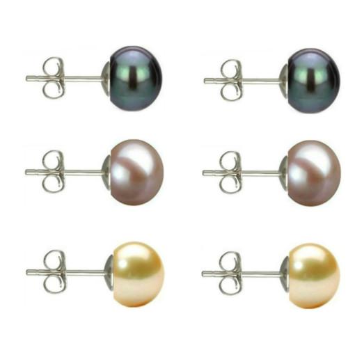 Cercei Argint Clips cu Perle Naturale Crem