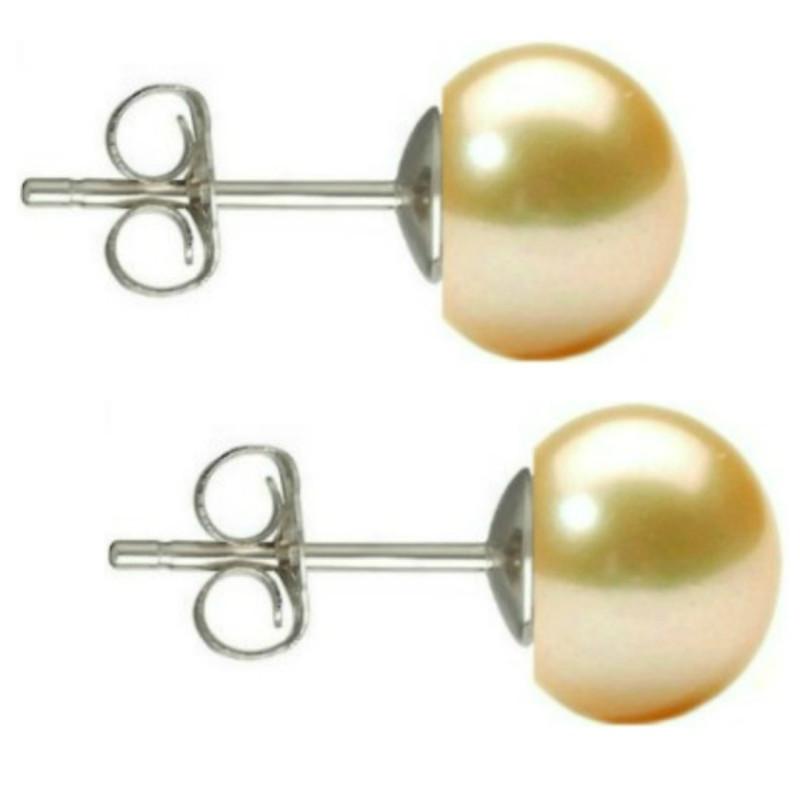 Bratara Perle Naturale Ovale Albe cu Inchizatoare Aur Galben