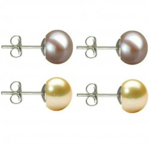 Colier Perle Naturale Ovale Albe cu Inchizatoare Argint