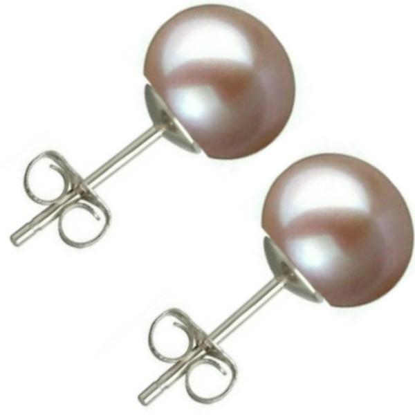 Colier Perle Naturale Ovale Lavanda cu Inchizatoare Aur Alb