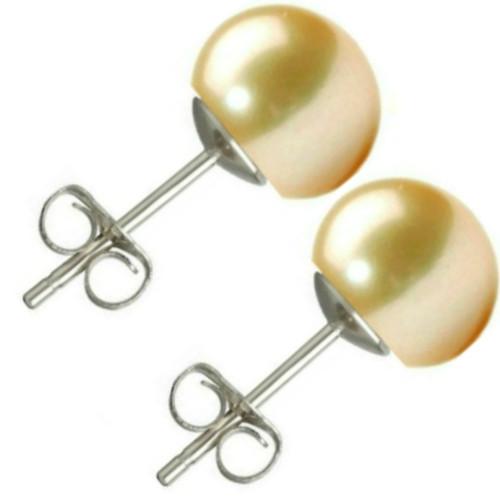Colier Perle Naturale Ovale Lavanda cu Inchizatoare Aur Galben