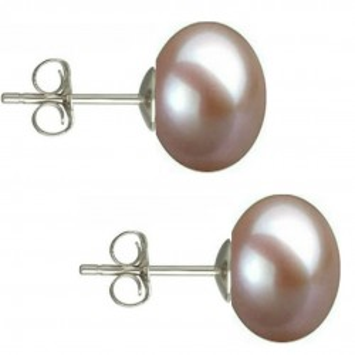 Set Perle Naturale Negre Mari cu Inchizatori Sferice Aur Galben de 14 k