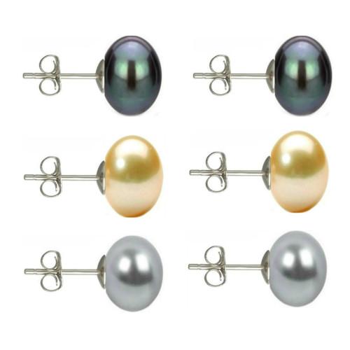Set Cercei Argint cu Perle...