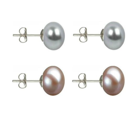 Colier Business Perle Naturale cu Inchizatoare Aur Galben Sferica
