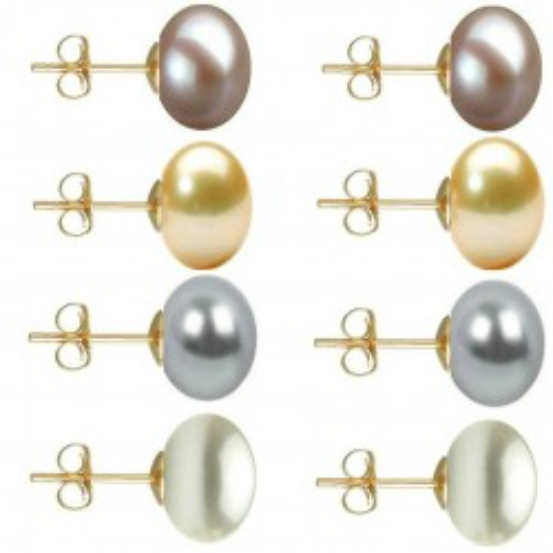 Set Cercei Aur cu Perle...