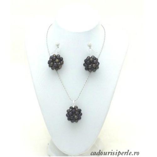 Set Bulgarasi cu Perle Negre