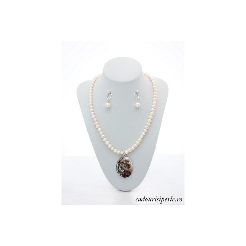 Cercei Candelabru cu Perle Naturale