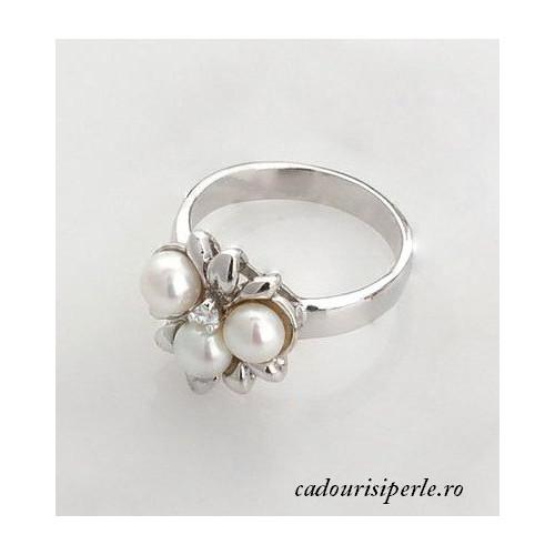 Bratara cu Perle si Disc Coral