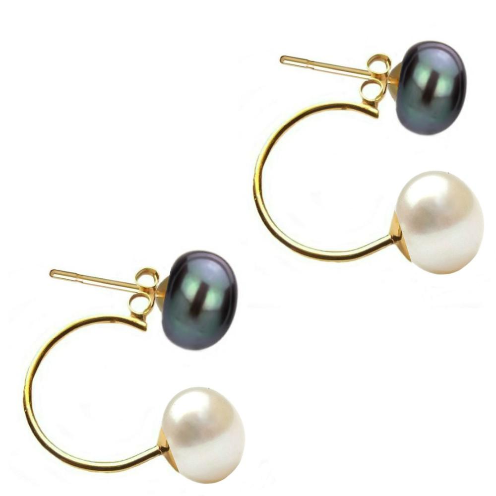 cercei aur si perle