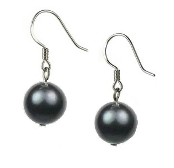 Cercei cu Perle Negre