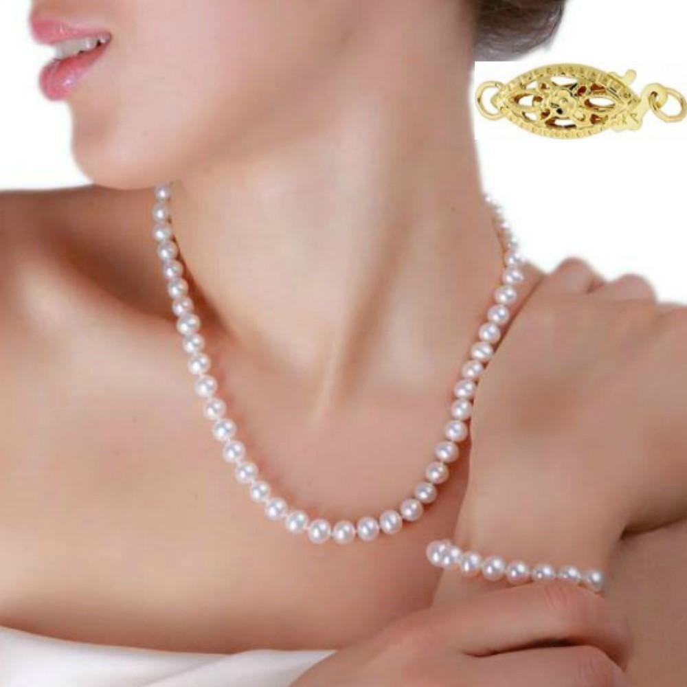 Set Aur si Perle Naturale