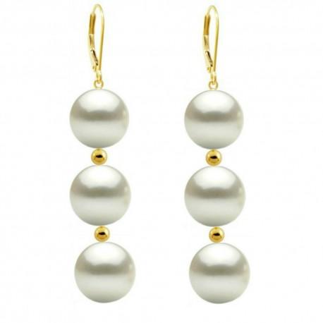 cercei aur si perle premium