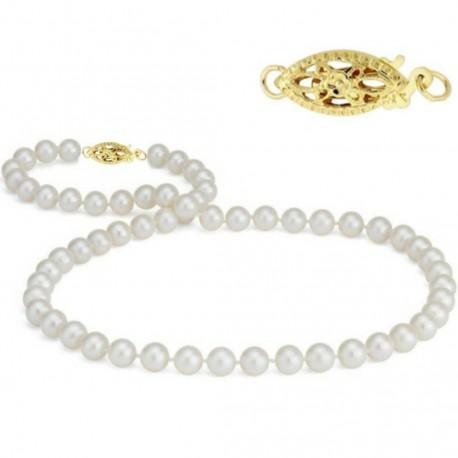 colier cu perle si aur