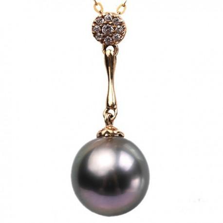 pandantiv aur si perla tahitiana